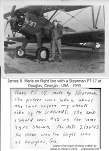 Photo of Jim Maris with Stearman PT17